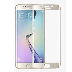 Schutzfolie Full Coverage Displayschutzfolie Panzerfolie Skins zum Aufkleben Gehärtetes Glas Glasfolie F02 für Samsung Galaxy S6 Edge SM-G925 Weiß
