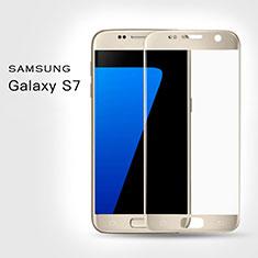 Schutzfolie Full Coverage Displayschutzfolie Panzerfolie Skins zum Aufkleben Gehärtetes Glas Glasfolie F02 für Samsung Galaxy S7 G930F G930FD Gold