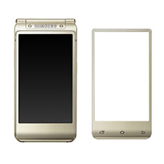 Schutzfolie Full Coverage Displayschutzfolie Panzerfolie Skins zum Aufkleben Gehärtetes Glas Glasfolie F02 für Samsung W(2016) Gold