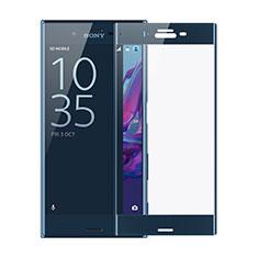 Schutzfolie Full Coverage Displayschutzfolie Panzerfolie Skins zum Aufkleben Gehärtetes Glas Glasfolie F02 für Sony Xperia XZs Blau