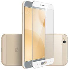 Schutzfolie Full Coverage Displayschutzfolie Panzerfolie Skins zum Aufkleben Gehärtetes Glas Glasfolie F02 für Xiaomi Mi 5C Weiß