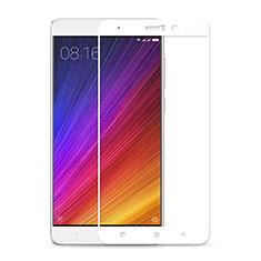 Schutzfolie Full Coverage Displayschutzfolie Panzerfolie Skins zum Aufkleben Gehärtetes Glas Glasfolie F02 für Xiaomi Mi 5S Plus Weiß