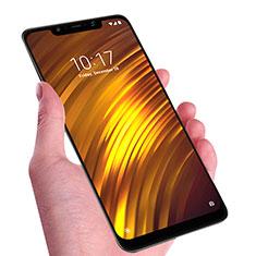 Schutzfolie Full Coverage Displayschutzfolie Panzerfolie Skins zum Aufkleben Gehärtetes Glas Glasfolie F02 für Xiaomi Pocophone F1 Schwarz