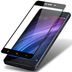 Schutzfolie Full Coverage Displayschutzfolie Panzerfolie Skins zum Aufkleben Gehärtetes Glas Glasfolie F02 für Xiaomi Redmi 4 Prime High Edition Schwarz