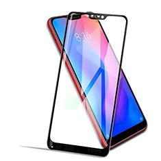 Schutzfolie Full Coverage Displayschutzfolie Panzerfolie Skins zum Aufkleben Gehärtetes Glas Glasfolie F02 für Xiaomi Redmi 6 Pro Schwarz