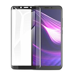 Schutzfolie Full Coverage Displayschutzfolie Panzerfolie Skins zum Aufkleben Gehärtetes Glas Glasfolie F02 für Xiaomi Redmi 6 Schwarz