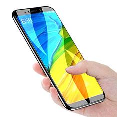Schutzfolie Full Coverage Displayschutzfolie Panzerfolie Skins zum Aufkleben Gehärtetes Glas Glasfolie F02 für Xiaomi Redmi Note 5 Indian Version Schwarz