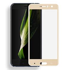 Schutzfolie Full Coverage Displayschutzfolie Panzerfolie Skins zum Aufkleben Gehärtetes Glas Glasfolie F03 für HTC U11 Gold