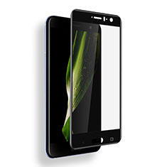 Schutzfolie Full Coverage Displayschutzfolie Panzerfolie Skins zum Aufkleben Gehärtetes Glas Glasfolie F03 für HTC U11 Schwarz