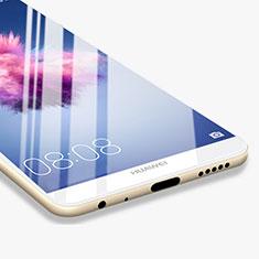 Schutzfolie Full Coverage Displayschutzfolie Panzerfolie Skins zum Aufkleben Gehärtetes Glas Glasfolie F03 für Huawei P Smart Weiß