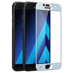 Schutzfolie Full Coverage Displayschutzfolie Panzerfolie Skins zum Aufkleben Gehärtetes Glas Glasfolie F03 für Samsung Galaxy A3 (2017) SM-A320F Blau