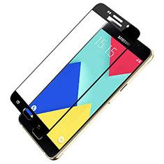 Schutzfolie Full Coverage Displayschutzfolie Panzerfolie Skins zum Aufkleben Gehärtetes Glas Glasfolie F03 für Samsung Galaxy A9 Pro (2016) SM-A9100 Schwarz
