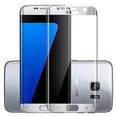 Schutzfolie Full Coverage Displayschutzfolie Panzerfolie Skins zum Aufkleben Gehärtetes Glas Glasfolie F03 für Samsung Galaxy S7 Edge G935F Silber