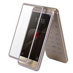 Schutzfolie Full Coverage Displayschutzfolie Panzerfolie Skins zum Aufkleben Gehärtetes Glas Glasfolie F03 für Samsung W(2017) Gold