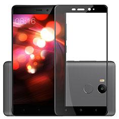 Schutzfolie Full Coverage Displayschutzfolie Panzerfolie Skins zum Aufkleben Gehärtetes Glas Glasfolie F03 für Xiaomi Redmi 4 Prime High Edition Schwarz