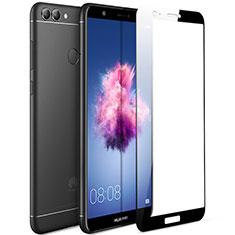 Schutzfolie Full Coverage Displayschutzfolie Panzerfolie Skins zum Aufkleben Gehärtetes Glas Glasfolie F04 für Huawei Enjoy 7S Schwarz
