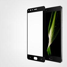 Schutzfolie Full Coverage Displayschutzfolie Panzerfolie Skins zum Aufkleben Gehärtetes Glas Glasfolie F04 für OnePlus 3T Schwarz