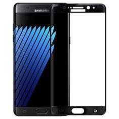 Schutzfolie Full Coverage Displayschutzfolie Panzerfolie Skins zum Aufkleben Gehärtetes Glas Glasfolie F04 für Samsung Galaxy Note 7 Schwarz