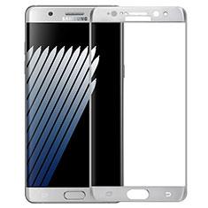 Schutzfolie Full Coverage Displayschutzfolie Panzerfolie Skins zum Aufkleben Gehärtetes Glas Glasfolie F04 für Samsung Galaxy Note 7 Weiß