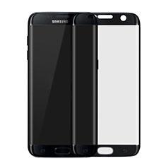 Schutzfolie Full Coverage Displayschutzfolie Panzerfolie Skins zum Aufkleben Gehärtetes Glas Glasfolie F04 für Samsung Galaxy S7 Edge G935F Schwarz