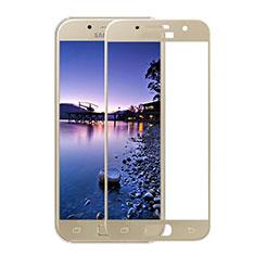Schutzfolie Full Coverage Displayschutzfolie Panzerfolie Skins zum Aufkleben Gehärtetes Glas Glasfolie F05 für Samsung Galaxy A3 (2017) SM-A320F Gold