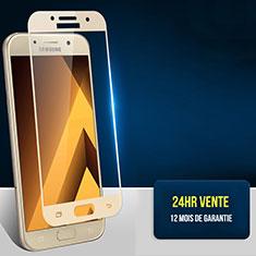 Schutzfolie Full Coverage Displayschutzfolie Panzerfolie Skins zum Aufkleben Gehärtetes Glas Glasfolie F05 für Samsung Galaxy A7 (2017) A720F Gold