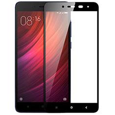 Schutzfolie Full Coverage Displayschutzfolie Panzerfolie Skins zum Aufkleben Gehärtetes Glas Glasfolie F05 für Xiaomi Redmi Note 4X Schwarz