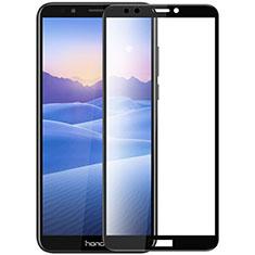 Schutzfolie Full Coverage Displayschutzfolie Panzerfolie Skins zum Aufkleben Gehärtetes Glas Glasfolie F07 für Huawei Honor 7C Schwarz