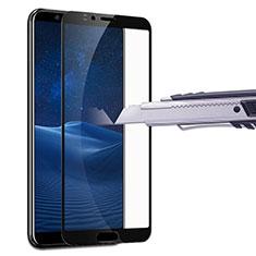 Schutzfolie Full Coverage Displayschutzfolie Panzerfolie Skins zum Aufkleben Gehärtetes Glas Glasfolie F07 für Huawei Honor V10 Schwarz