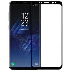 Schutzfolie Full Coverage Displayschutzfolie Panzerfolie Skins zum Aufkleben Gehärtetes Glas Glasfolie F07 für Samsung Galaxy S9 Schwarz