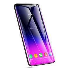 Schutzfolie Full Coverage Displayschutzfolie Panzerfolie Skins zum Aufkleben Gehärtetes Glas Glasfolie F08 für Samsung Galaxy S9 Plus Schwarz