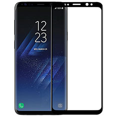 Schutzfolie Full Coverage Displayschutzfolie Panzerfolie Skins zum Aufkleben Gehärtetes Glas Glasfolie F09 für Samsung Galaxy S9 Plus Schwarz