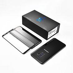 Schutzfolie Full Coverage Displayschutzfolie Panzerfolie Skins zum Aufkleben Gehärtetes Glas Glasfolie F10 für Samsung Galaxy S9 Plus Schwarz