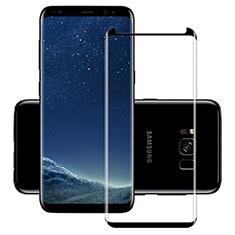 Schutzfolie Full Coverage Displayschutzfolie Panzerfolie Skins zum Aufkleben Gehärtetes Glas Glasfolie F11 für Samsung Galaxy S8 Schwarz