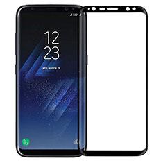 Schutzfolie Full Coverage Displayschutzfolie Panzerfolie Skins zum Aufkleben Gehärtetes Glas Glasfolie F12 für Samsung Galaxy S8 Plus Schwarz