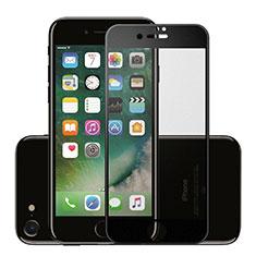 Schutzfolie Full Coverage Displayschutzfolie Panzerfolie Skins zum Aufkleben Gehärtetes Glas Glasfolie F16 für Apple iPhone SE (2020) Schwarz