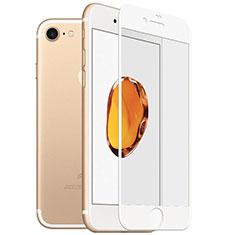 Schutzfolie Full Coverage Displayschutzfolie Panzerfolie Skins zum Aufkleben Gehärtetes Glas Glasfolie F18 für Apple iPhone SE (2020) Weiß