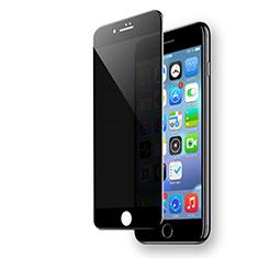 Schutzfolie Full Coverage Displayschutzfolie Panzerfolie Skins zum Aufkleben Gehärtetes Glas Glasfolie F19 für Apple iPhone 7 Schwarz