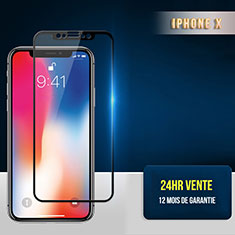Schutzfolie Full Coverage Displayschutzfolie Panzerfolie Skins zum Aufkleben Gehärtetes Glas Glasfolie F30 für Apple iPhone Xs Max Schwarz