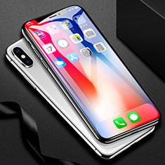 Schutzfolie Full Coverage Displayschutzfolie Panzerfolie Skins zum Aufkleben Gehärtetes Glas Glasfolie F31 für Apple iPhone Xs Max Schwarz