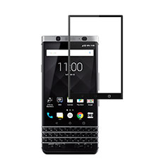 Schutzfolie Full Coverage Displayschutzfolie Panzerfolie Skins zum Aufkleben Gehärtetes Glas Glasfolie für Blackberry KEYone Schwarz