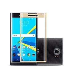 Schutzfolie Full Coverage Displayschutzfolie Panzerfolie Skins zum Aufkleben Gehärtetes Glas Glasfolie für Blackberry Priv Gold