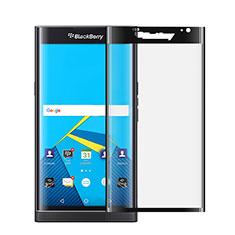 Schutzfolie Full Coverage Displayschutzfolie Panzerfolie Skins zum Aufkleben Gehärtetes Glas Glasfolie für Blackberry Priv Schwarz