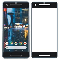 Schutzfolie Full Coverage Displayschutzfolie Panzerfolie Skins zum Aufkleben Gehärtetes Glas Glasfolie für Google Pixel 2 Schwarz