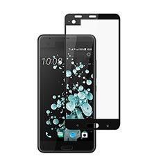 Schutzfolie Full Coverage Displayschutzfolie Panzerfolie Skins zum Aufkleben Gehärtetes Glas Glasfolie für HTC U Ultra Schwarz