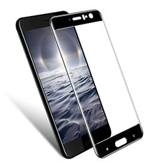 Schutzfolie Full Coverage Displayschutzfolie Panzerfolie Skins zum Aufkleben Gehärtetes Glas Glasfolie für HTC U11 Schwarz