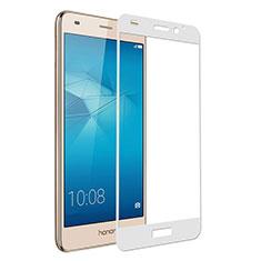 Schutzfolie Full Coverage Displayschutzfolie Panzerfolie Skins zum Aufkleben Gehärtetes Glas Glasfolie für Huawei Honor 5C Weiß