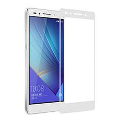 Schutzfolie Full Coverage Displayschutzfolie Panzerfolie Skins zum Aufkleben Gehärtetes Glas Glasfolie für Huawei Honor 7 Weiß