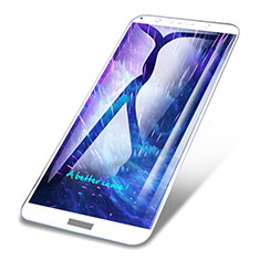 Schutzfolie Full Coverage Displayschutzfolie Panzerfolie Skins zum Aufkleben Gehärtetes Glas Glasfolie für Huawei Honor Play 7A Weiß