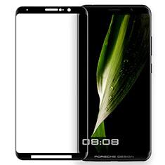 Schutzfolie Full Coverage Displayschutzfolie Panzerfolie Skins zum Aufkleben Gehärtetes Glas Glasfolie für Huawei Mate RS Schwarz